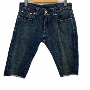Levi's Men's 511 Skinny Fit Cut Off Shorts 30 EUC
